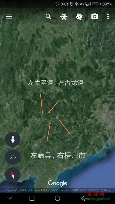 高空中卫星地图看藤县,太平镇,古龙镇,梧州市(视频)